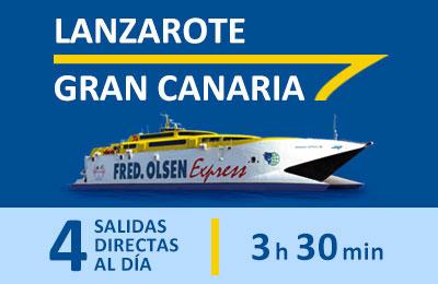 Lanzarote - Gran Canaria con Fred. Olsen Express