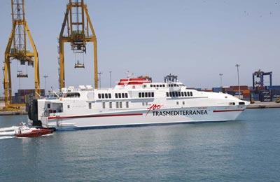 Ferry de alta velocidad de Trasmediterránea